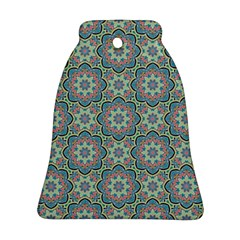 Decorative Ornamental Geometric Pattern Bell Ornament (two Sides) by TastefulDesigns