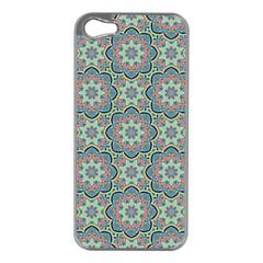 Decorative Ornamental Geometric Pattern Apple Iphone 5 Case (silver) by TastefulDesigns