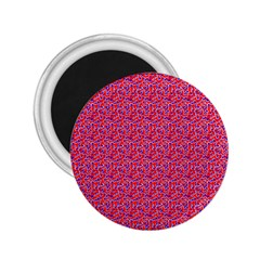 Red White And Blue Leopard Print  2 25  Magnets by PhotoNOLA