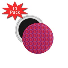 Red White And Blue Leopard Print  1 75  Magnets (10 Pack)  by PhotoNOLA