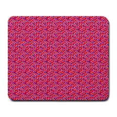 Red White And Blue Leopard Print  Large Mousepads by PhotoNOLA