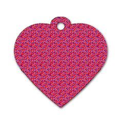 Red White And Blue Leopard Print  Dog Tag Heart (two Sides) by PhotoNOLA
