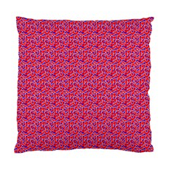 Red White And Blue Leopard Print  Standard Cushion Case (one Side) by PhotoNOLA