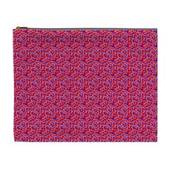 Red White And Blue Leopard Print  Cosmetic Bag (xl) by PhotoNOLA