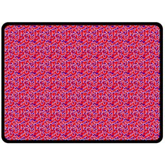 Red White And Blue Leopard Print  Fleece Blanket (large)  by PhotoNOLA