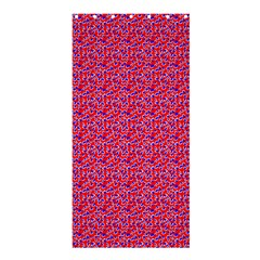 Red White And Blue Leopard Print  Shower Curtain 36  X 72  (stall)  by PhotoNOLA