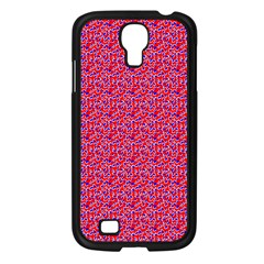 Red White And Blue Leopard Print  Samsung Galaxy S4 I9500/ I9505 Case (black) by PhotoNOLA
