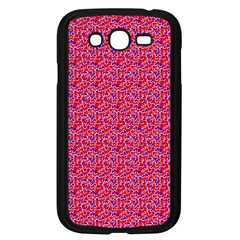 Red White And Blue Leopard Print  Samsung Galaxy Grand Duos I9082 Case (black) by PhotoNOLA