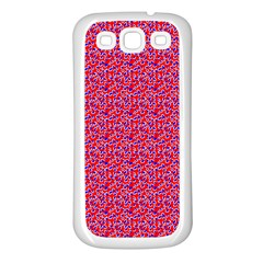 Red White And Blue Leopard Print  Samsung Galaxy S3 Back Case (white) by PhotoNOLA