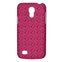 Red White And Blue Leopard Print  Galaxy S4 Mini by PhotoNOLA