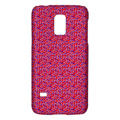 Red White And Blue Leopard Print  Galaxy S5 Mini by PhotoNOLA