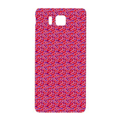 Red White And Blue Leopard Print  Samsung Galaxy Alpha Hardshell Back Case by PhotoNOLA