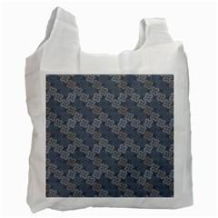 Decorative Ornamental Geometric Pattern Recycle Bag (one Side) by TastefulDesigns