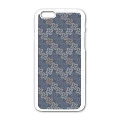 Decorative Ornamental Geometric Pattern Apple Iphone 6/6s White Enamel Case by TastefulDesigns