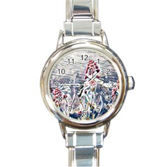 Port Flowers Round Italian Charm Watch by DeneWestUK