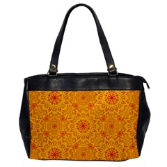 Solar Mandala  Orange Rangoli  Oversize Office Handbag by bunart