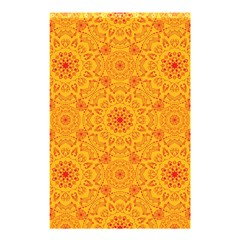Solar Mandala  Orange Rangoli  Shower Curtain 48  X 72  (small) by bunart