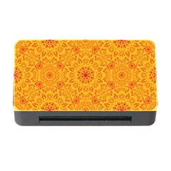 Solar Mandala  Orange Rangoli  Memory Card Reader With Cf by bunart