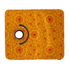Solar Mandala  Orange Rangoli  Samsung Galaxy S  Iii Flip 360 Case by bunart