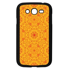 Solar Mandala  Orange Rangoli  Samsung Galaxy Grand Duos I9082 Case (black) by bunart
