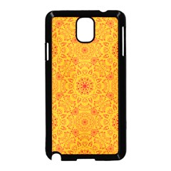 Solar Mandala  Orange Rangoli  Samsung Galaxy Note 3 Neo Hardshell Case (black) by bunart