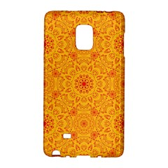 Solar Mandala  Orange Rangoli  Samsung Galaxy Note Edge Hardshell Case by bunart