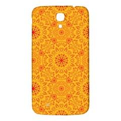 Solar Mandala  Orange Rangoli  Samsung Galaxy Mega I9200 Hardshell Back Case by bunart