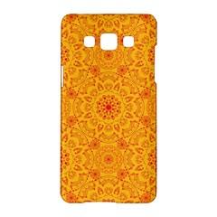 Solar Mandala  Orange Rangoli  Samsung Galaxy A5 Hardshell Case  by bunart