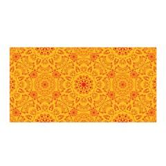Solar Mandala  Orange Rangoli  Satin Wrap by bunart