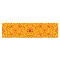 Solar Mandala  Orange Rangoli  Satin Scarf (oblong) by bunart