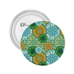 Forest Spirits  Green Mandalas  2 25  Button by bunart