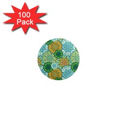 Forest Spirits  Green Mandalas  1  Mini Magnet (100 Pack)  by bunart