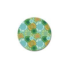 Forest Spirits  Green Mandalas  Golf Ball Marker (4 Pack) by bunart