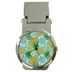 Forest Spirits  Green Mandalas  Money Clip Watch by bunart