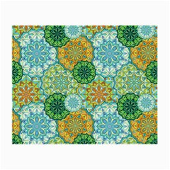 Forest Spirits  Green Mandalas  Small Glasses Cloth (2 Sides) by bunart