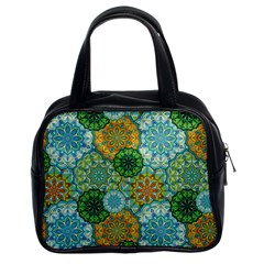 Forest Spirits  Green Mandalas  Classic Handbag (two Sides) by bunart