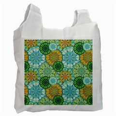 Forest Spirits  Green Mandalas  Recycle Bag (one Side) by bunart