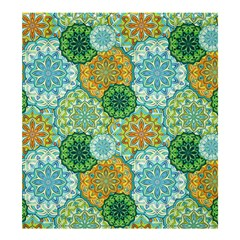 Forest Spirits  Green Mandalas  Shower Curtain 66  X 72  (large) by bunart