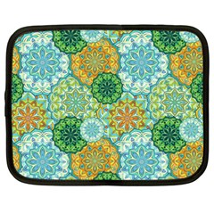 Forest Spirits  Green Mandalas  Netbook Case (xxl) by bunart