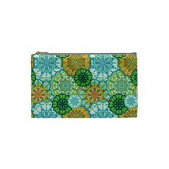 Forest Spirits  Green Mandalas  Cosmetic Bag (small) by bunart