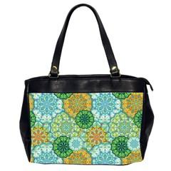 Forest Spirits  Green Mandalas  Oversize Office Handbag (2 Sides) by bunart