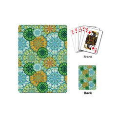 Forest Spirits  Green Mandalas  Playing Cards (mini) by bunart
