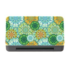 Forest Spirits  Green Mandalas  Memory Card Reader With Cf by bunart