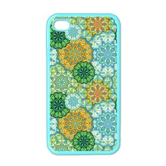 Forest Spirits  Green Mandalas  Apple Iphone 4 Case (color) by bunart