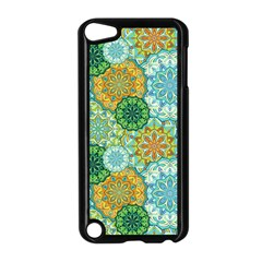 Forest Spirits  Green Mandalas  Apple Ipod Touch 5 Case (black) by bunart