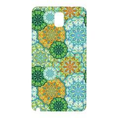 Forest Spirits  Green Mandalas  Samsung Galaxy Note 3 N9005 Hardshell Back Case by bunart