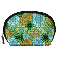 Forest Spirits  Green Mandalas  Accessory Pouch (large) by bunart
