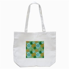 Forest Spirits  Green Mandalas  Tote Bag (white) by bunart
