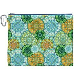 Forest Spirits  Green Mandalas  Canvas Cosmetic Bag (xxxl) by bunart