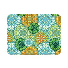 Forest Spirits  Green Mandalas  Double Sided Flano Blanket (mini) by bunart